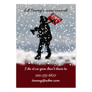 snow shovel business cards