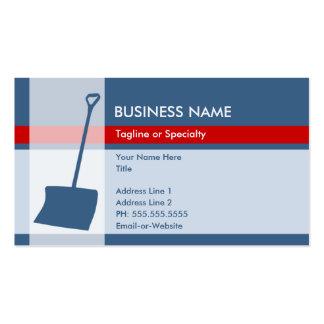 snow shovel elegance business card