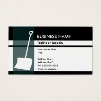 snow shovel elegance business card
