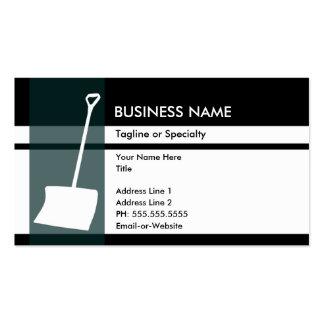 snow shovel elegance business cards