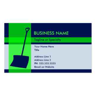 snow shovel elegance Double-Sided standard business cards (Pack of 100)