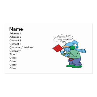 Snow Shovel Humor Double-Sided Standard Business Cards (Pack Of 100)