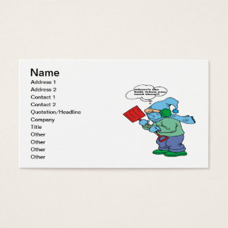 Snow Shovel Humor Business Card