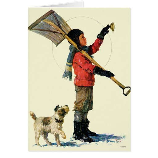 Snow Shoveler Greeting Cards