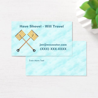 Snow Shoveling Business Business Card
