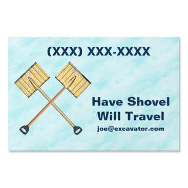 Snow Shoveling Business Lawn Sign