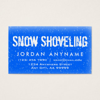 Snow Shoveling Falling Snow Business Card