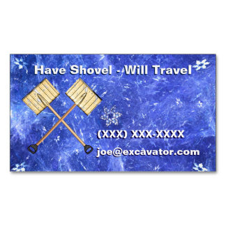 Snow Shoveling Magnetic Business Card