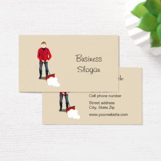 Snow Shoveling Service Business Card