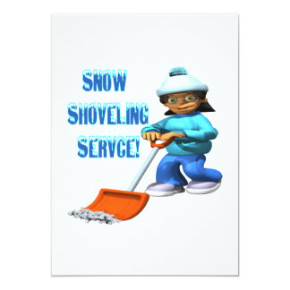 Snow Shoveling Service Card