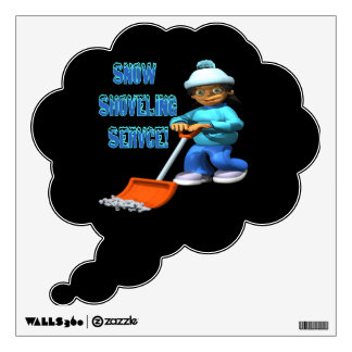 Snow Shoveling Service Wall Decal