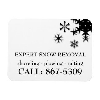 Snow Shovelling, Snow Plowing, Snow Removal Magnet