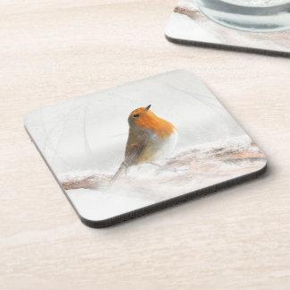 Snow Shower Robin Redbreast Drink Coaster