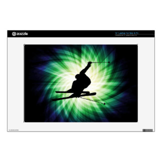 """Snow Ski Gift Decal For 13"""" Laptop"""