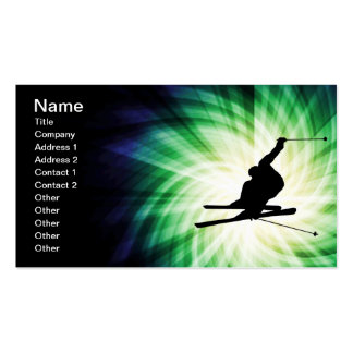Snow Ski Gift Double-Sided Standard Business Cards (Pack Of 100)