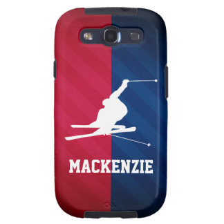 Snow Ski; Red, White, and Blue Galaxy SIII Case