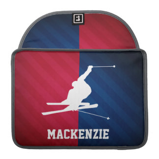 Snow Ski; Red, White, and Blue MacBook Pro Sleeve