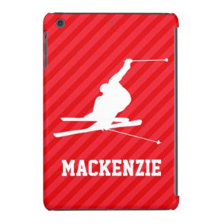Snow Ski; Scarlet Red Stripes iPad Mini Covers