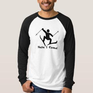 snow ski t shirt