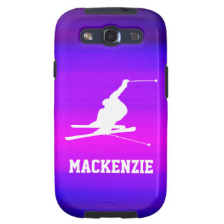 Snow Ski; Vibrant Violet Blue and Magenta Galaxy S3 Cases