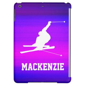 Snow Ski; Vibrant Violet Blue and Magenta iPad Air Case
