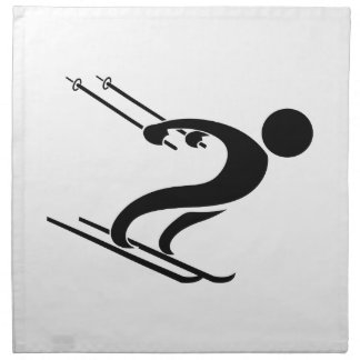 SNOW SKIER CLOTH NAPKIN