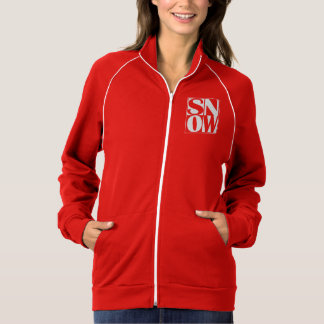 SNOW! Skier or Snowboarders Winter Sports Red Jacket