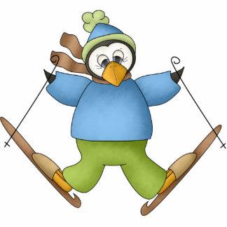 Snow Skier Penguin Ornament