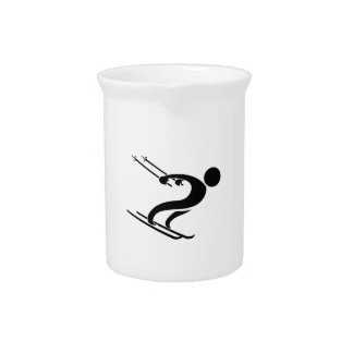 SNOW SKIER PITCHER