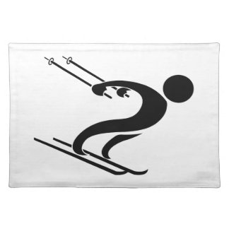 SNOW SKIER CLOTH PLACE MAT