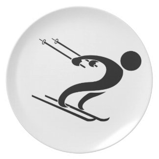 SNOW SKIER PARTY PLATES