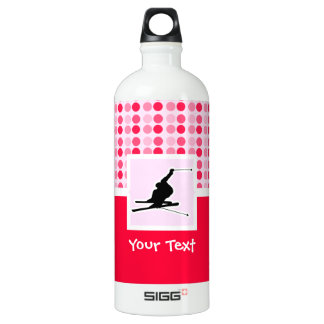Snow Skiing Aluminum Water Bottle