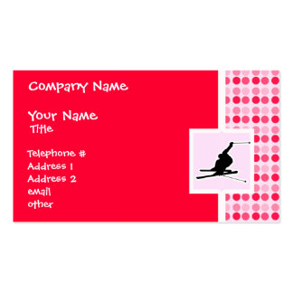 Snow Skiing Double-Sided Standard Business Cards (Pack Of 100)