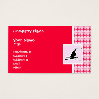 Snow Skiing Business Card