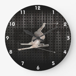 Snow Skiing; Cool Black Clock