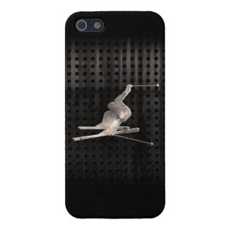 Snow Skiing Cool Black Cases For iPhone 5