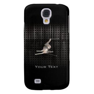 Snow Skiing; Cool Black Samsung Galaxy S4 Case