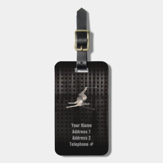 Snow Skiing; Cool Black Tag For Luggage
