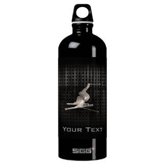 Snow Skiing; Cool Black Water Bottle