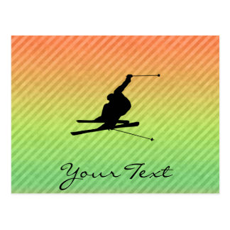 Snow Skiing Postcard