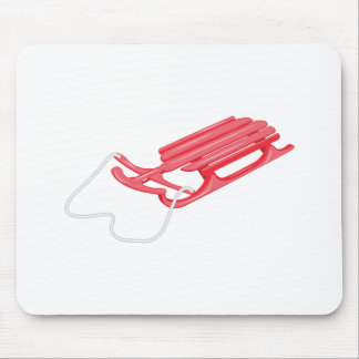 Snow Sled Mouse Pad