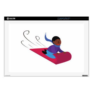 Snow Sled Decal For Laptop