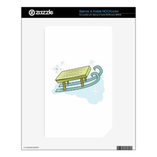 Snow Sled NOOK Color Decals