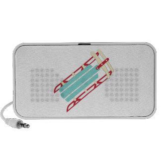 Snow Sled Notebook Speaker