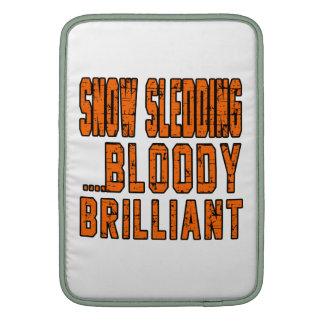 Snow Sledding Bloody Brilliant Sleeves For MacBook Air