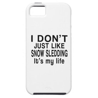 SNOW SLEDDING IS MY LIFE iPhone SE/5/5s CASE