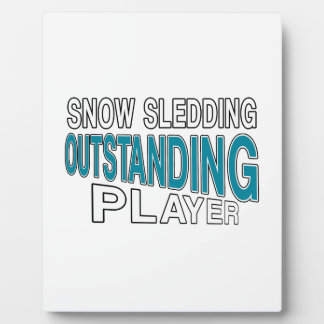 SNOW SLEDDING OUTSTANDING PLAYER PLAQUE