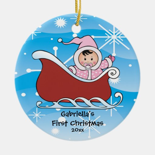 Snow Sleigh Baby's First Christmas Ornament