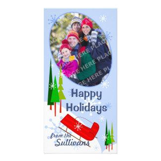 Snow Sleigh Holiday Photo Card