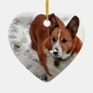 Snow Snout Ceramic Ornament